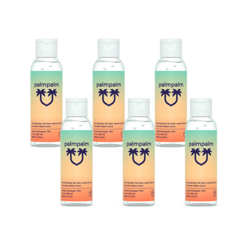 6 pack of 2oz palmpalm hand sanitizer