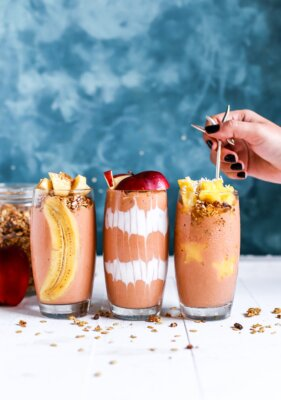 three healthy smoothies